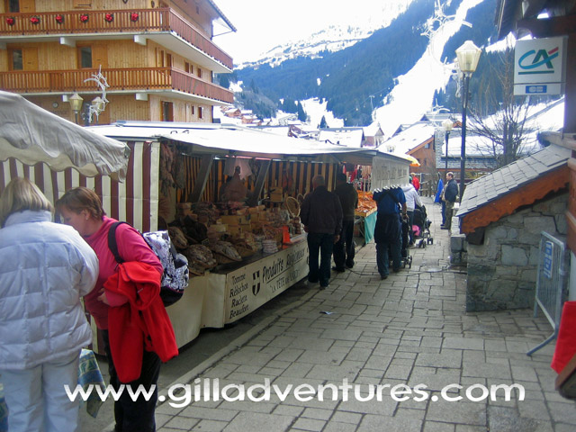 Street Market in Meribel