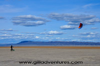 kiteboarder on the alvord desert