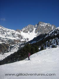 Eva Gill skiing in the Three Valleys, France