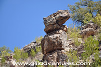 stone man, sabino canyon west fork trail