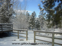 Rock Springs Dude Ranch in snow