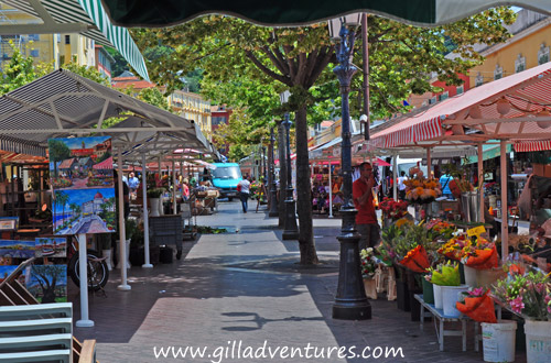 The flower market in Nice, France