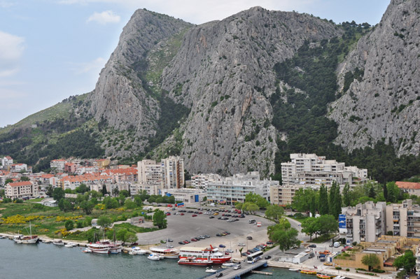 Omiš, Croatia: a view from the Pirate's Fort.