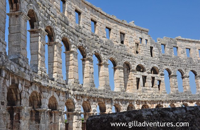 The Roman Amphitheater in Pula, the 6th largest in the world.
