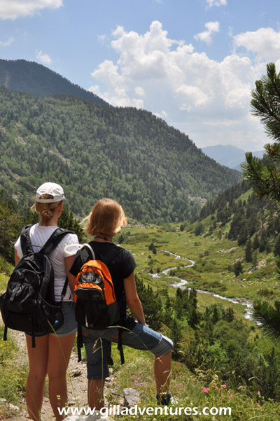 Family hike in Andorra