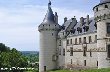 Chateau Chaumont sur Loire, overlooking the valley and river.