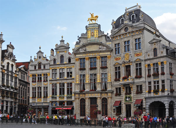 Guild houses, l'Arbre d'Or, in Grand Place, Brussels