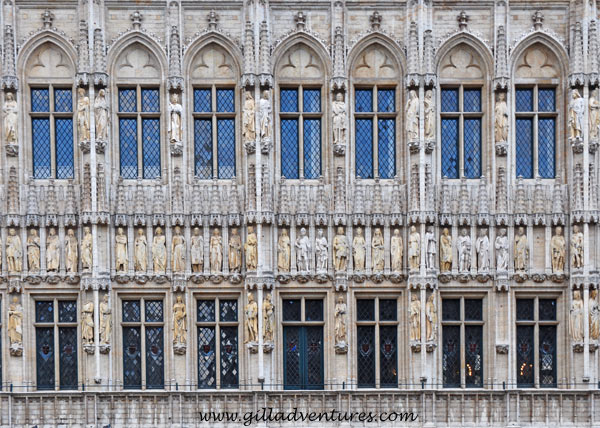 The wall of the Hotel de Ville, Grand Place, Brussels