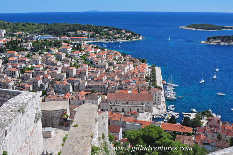 Hvar, Croatia, from the citadel Spanjola above town. This is from our trip through the Dalmatian Coast last May.