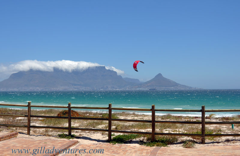 Cape Town from Bloubergstrand, photo taken on our family trip around the world.