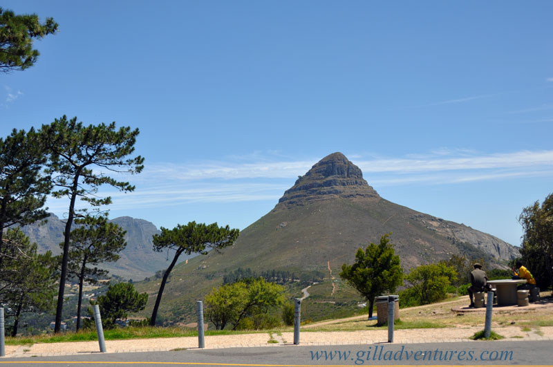 Cape Town Lions Head from the top of Signal Hill