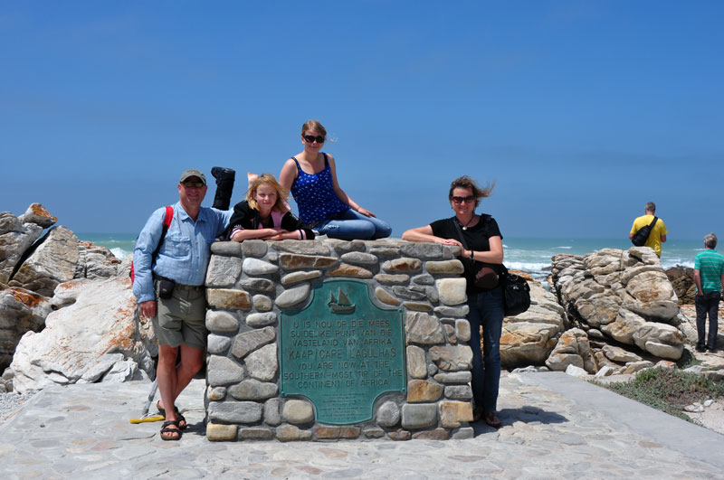 Monument at Cape Agulhas, the southernmost tip of Africa