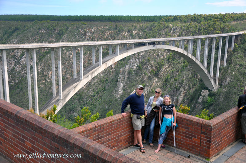 Bloukrans Bridge, home to the world's highest commercial bungy jump.