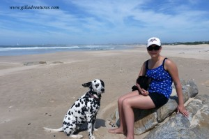Hannah and Wax, during our stay in Cape St. Francis on our trip around the world.
