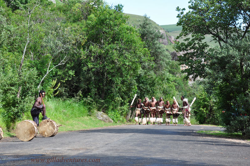 Zulu dancers in KwaZulu Natal