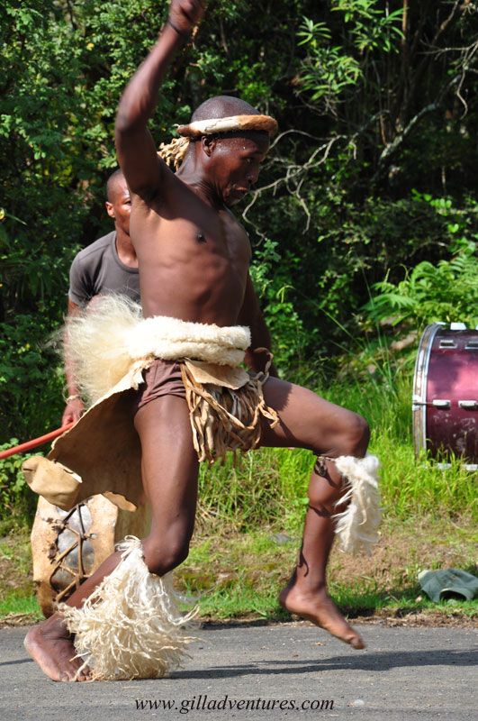 Zulu dancer in KwaZulu Natal, South Africa