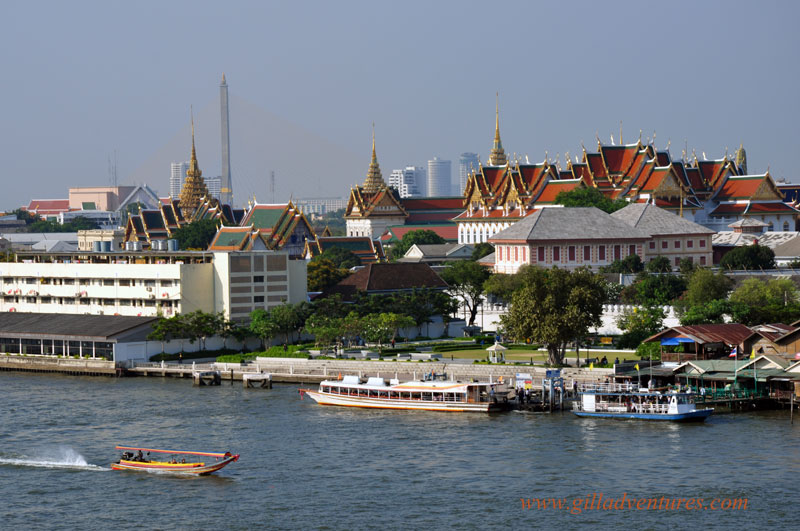 Bangkok, Thailand, and the Chao Phraya River from the Temple of Dawn