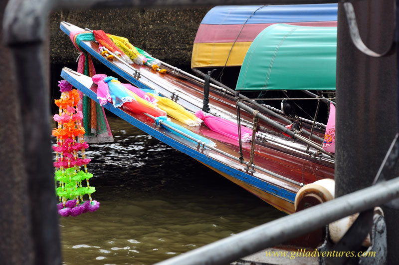 longtail boat on the  the Chao Phraya River in Bangkok, Thailand