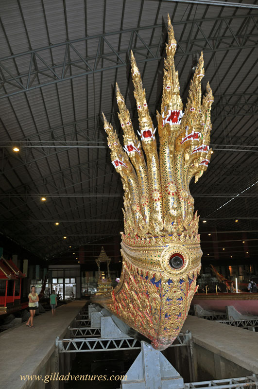 Bow of the King&#039;s boat at the Royal Barges Museum, Bangkok, Thailand