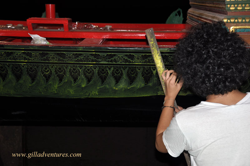 Restoring the barge- Royal Barges Museum, Bangkok, Thailand
