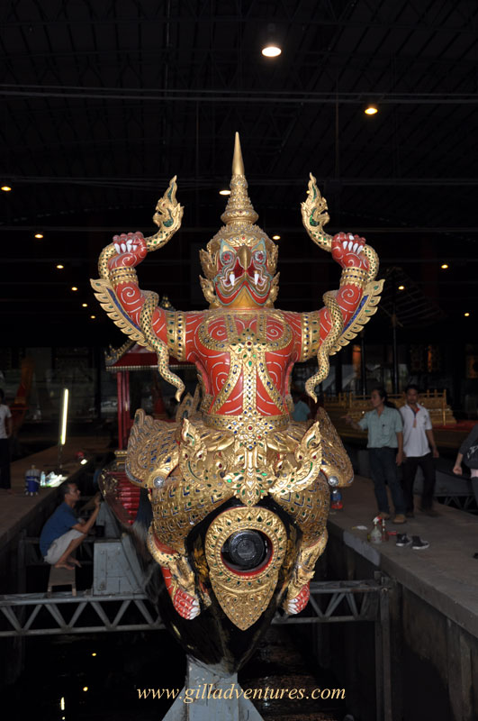 Figurehead on a royal barge, Bangkok
