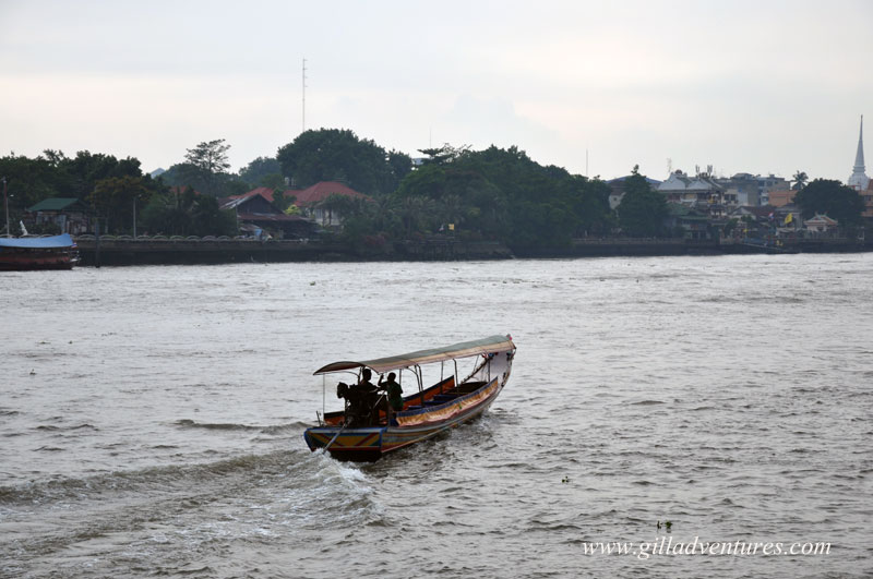 A longtail boat on the A longtail boat on the Chao Phraya River River, Bangkok, Thailand
